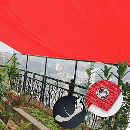 YXX-Filet d'ombrage Rouge 85% Sunblock ombre tissu avec Œillets et 5m Reliure - Abri UV durable Canopy for les plantes de jardin en plein air, Backyard & Pergola (Size : 4mx8m)