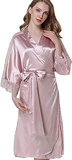 b2e6a89d127 Mini Balabala Peignoir Satin Robe de Chambre Kimono Femme Sortie de Bain  Nuisette Déshabillé Vêtements de