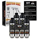 U-Pol Raptor Dove Gray Urethane Spray-On Truck Bed Liner Kit and Custom Coat Spray Gun with Regulator, 4 Liters