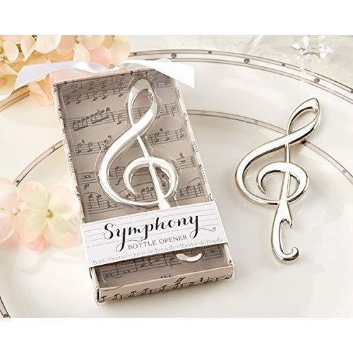 Apribottiglie con nota musicale, in scatola regalo, apribottiglie per chiave e nota musicale, dettagli originali per invitati di matrimonio, regali di Comunione e ricordi