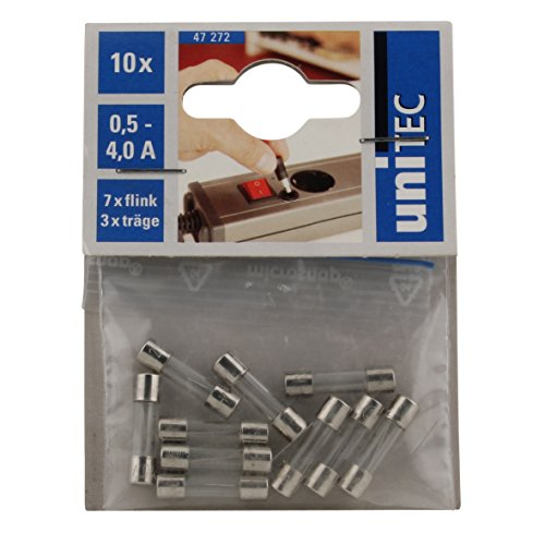 UNITEC 47272 Feinsicherung-Set 250 V, 5 x 20 mm
