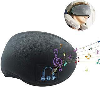 Music Sleep Mask,Womdee Wireless Sleeping Eye Mask Headphones,Music Travel Sleep Mask Eye Shades Built-in Speakers Microphone Handsfree Adjustable Washable for Travel Siesta,Creative Birthday Gift