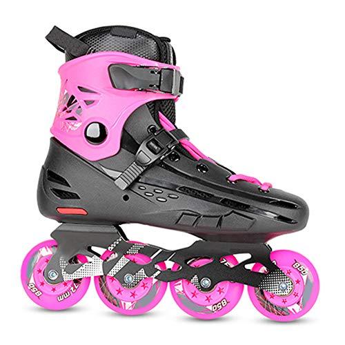 DLBJ Patines En Linea Ajustables, Profesionales para Adultos Y Niños, con Protección Incluida 4 Ruedas Skates Rollers