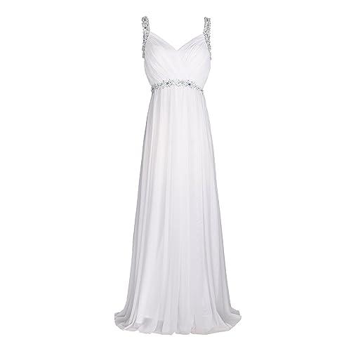 656a1a2fd81 conail Coco Women Ruched Waist Rhinestone Casual Formal Long Wedding  Bridesmaid Dress 6002