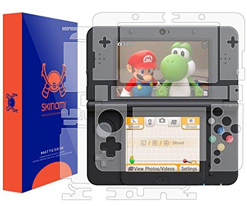 Skinomi Matte Full Body Protector Compatible with Nintendo 3DS (2015 Standard Version)(Screen Protector + Back Skin Cover) Full Coverage Matte Skin Anti-Glare HD Film