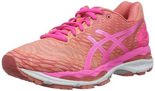 Asics W S Gel-Nimbus 18, Zapatillas de Running Mujer, Multicolor (Peach Melba/Hot Pink/Guava), 37 EU