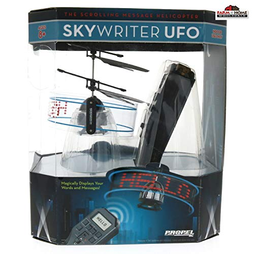Brookstone 15011-PPL Skywriter UFO Remote Control Helicopter