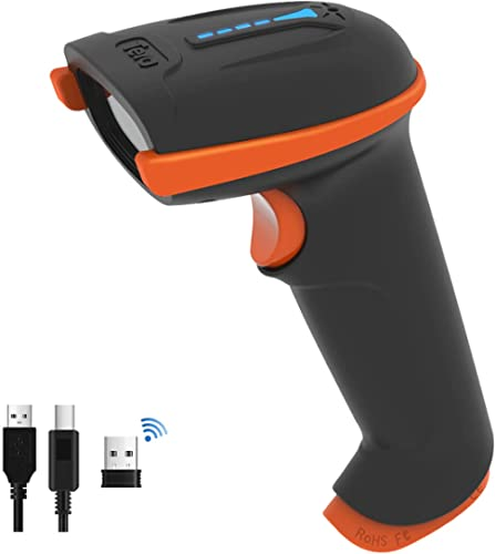 Tera Barcode Scanner Wireless 1D Laser Cordless Barcode Reader with Battery Level Indicator, Versatile 2 in 1 2.4Ghz ...