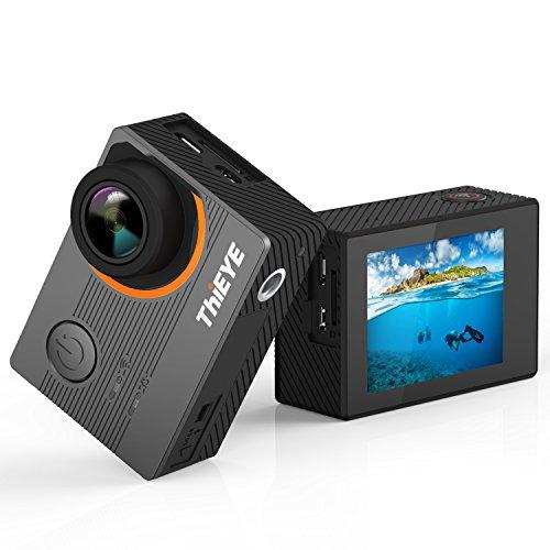 ThiEYE Action Cam 4K E7 Action Camera Panasonic Sensor Ultra-HD IPS Display 20MP 60m Impermeabile 170°Angolo Ampio WiFi Fotocamera Subacquea con Funzione EIS