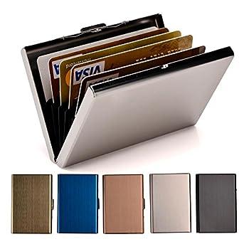RFID Credit Card Holder Stainless Steel Credit Card Wallet Business Card Holder for Women Men