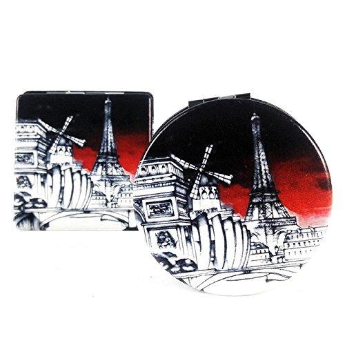 Maison Futée - Miroir de poche rond - Paris Moulin Rouge