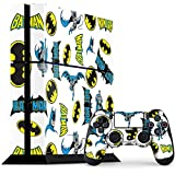 Skinit Decal Gaming Skin Compatible with PS4 Console and Controller Bundle - Officially Licensed Warner Bros Batman Action All Over Print Design