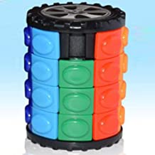 OUYAWEI Rubik Toy Magic Cube 3D Puzzle DIY Children Puzzle Cylindrical Cube - 4th Order - OPP