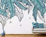 Fotomural no Tejido Hoja de plátano de planta tropical Murales de Pared 3D Papel Tapiz Mural Papel Tapiz decoración del Hogar Sala de Estar Dormitorio Pintura de Pared 430x300cm