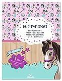moses. Juego de papel de carta con diseño de caballos – Arcos, sobres y pegatinas de colores en una práctica carpeta de almacenamiento, utensilios para amigos de cartas