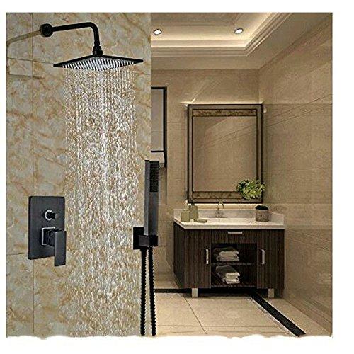 Bijjaladeva Antieke badkamer regendouche kraan systeem tippen Europese retro zwart inbouw douchekop douche en koud water mengkraan met handheld