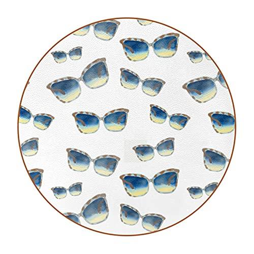 Gafas de sol 4.7.6 cm posavasos de copa grande, antimanchas, cristal anti-arañazos y antideslizante, un juego de 6 absorbentes