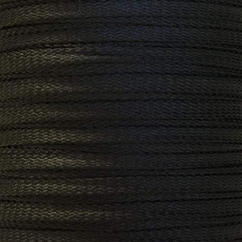 10m Flachkordel 5mm Flechtkordel Schnur Schnüre Korsett Korsage Korsettschnur schwarz Corset lace Black