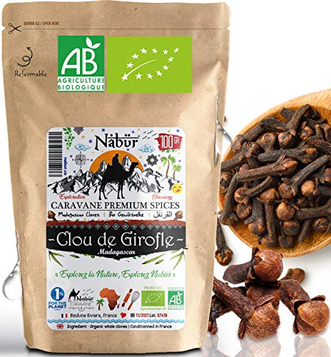 Nabür - Chiodi di Garofano BIO 100 Gr | Madagascar | Cucinare, Infusione, Ricco di Olio Essenziale