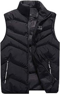 Mens Puffer Gilet Vest Body Warmer Waistcoat Padded Jacket Outwear Sleeveless Jackets