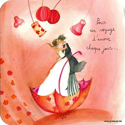 Correspondance - Tarjeta de arte simple para un viaje de amor cada día. De Anne-Sofie RUTSAERT Tamaño: 14 x 14 cm aprox. Oro Incluido