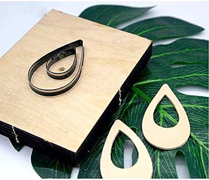 Leather Earrings Wooden Cutting Die//Large Teardrop//Sizzix Compatible-JT80