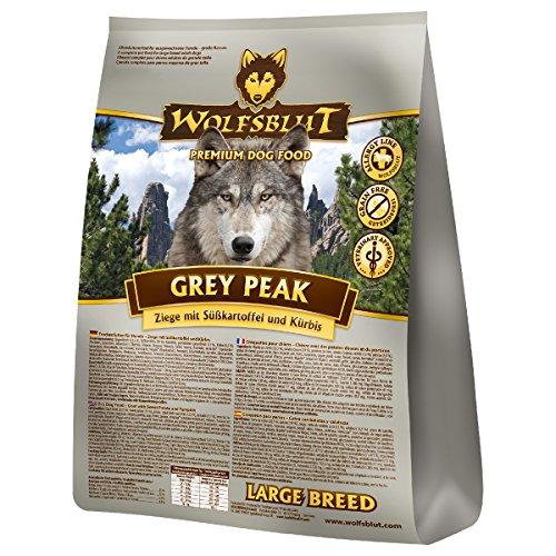Wolfsblut | Grey Peak Large Breed | 15 kg | Ziege | Trockenfutter | Hundefutter | Getreidefrei