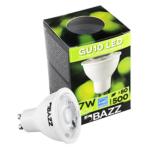 Bazz BGUA7EZ LED 7W GU10 Bulb Energy Star White Dimmable Long-Lasting