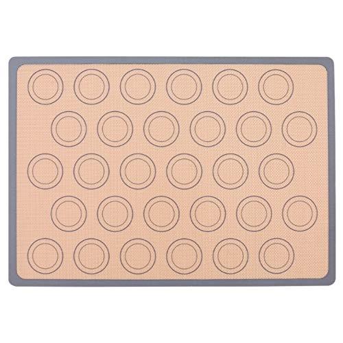 Andifany High Temperature Resistant Round Macaron Mat Non-Stick Baking Pan Mat