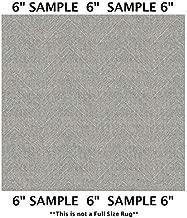 Koeckritz Rugs Sample Swatch - Angora, Milliken Carpet - DREAMROOM Chevron Pattern | Designers Dream Collection, Stainmaster Nylon