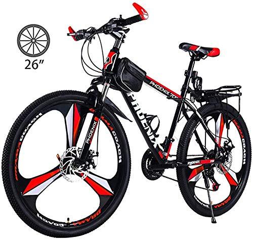 BUK Trekkingrad Trekkingrad Cross Trekkingbikes 26-Zoll-Scheibenbremse Fahrrad Stoßdämpfer Absorbierendes Offroad-Rennrad Student Variable Geschwindigkeit-26 Zoll / 24 Geschwindigkeit_EIN