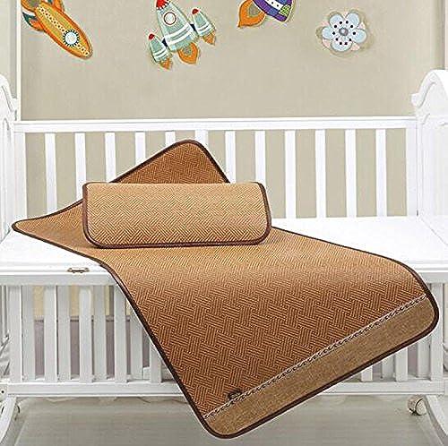 Sommerbettmatte Matratze Matratzen Kindermatten Faltbare Klimaanlage Baby Kindergarten Caddy 70  130cm Bett gesetzt (eins Sitzpl e EIN Kissen Sätze) (Farbe   B, Größe   70  130cm Bed Set)