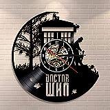 gunchkb orologio in vinile, orologio da parete a sette colori, strano e misterioso