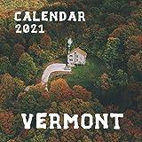 """Vermont: 2021 Wall Calendar - Mini Calendar, 8.5""""x8.5"""", 12 Months"""