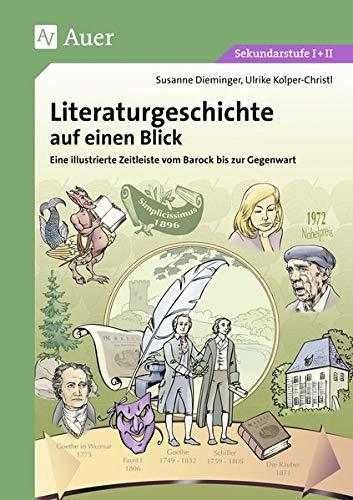 Literaturgeschichte auf einen Blick: Eine illustrierte Zeitleiste vom Barock bis zur Gegenwart (5. bis 13. Klasse)