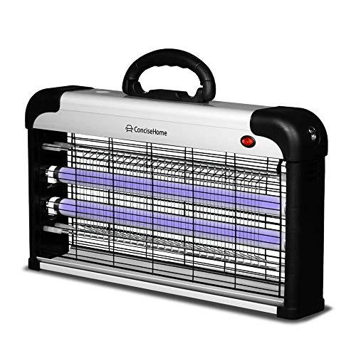 Concise Home La Lampada Anti-zanzara a UV Uccide Le Mosche frantoio Elettrico per Insetti, Argento Anti zanzara Esterno (30W)