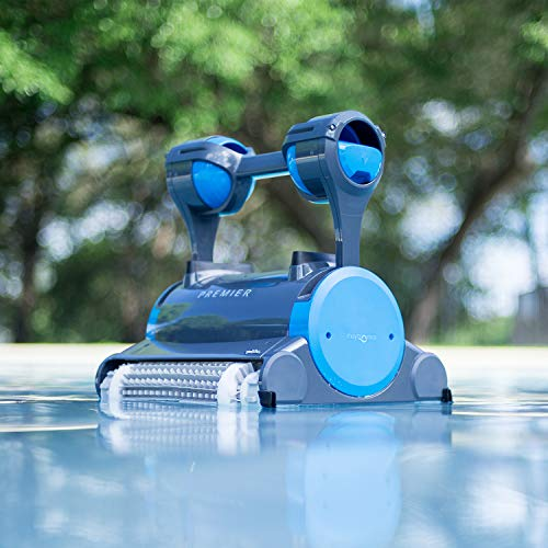 Dolphin Premier Robotic Pool Cleaner with Powerful Dual Scrubbing Brushes and Multiple Filter...