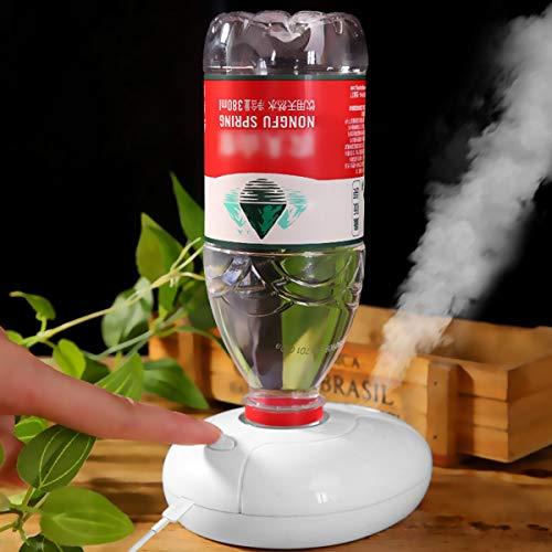 JEANGO Mini humidificador portátil para Viajes, humidificador de Aire de Escritorio ultrasónico Alimentado por USB con función Luminosa, Adecuado para pequeñas Habitaciones y oficinas