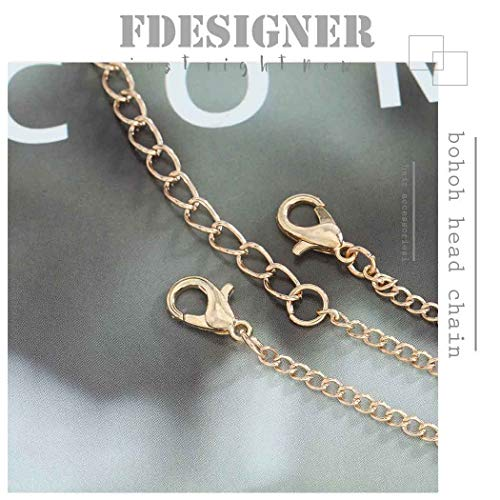 Fdesigner Boho Coin Head Chain Gold Fashion Disc Headband Jewelry Festival Hair Accessories Prom Wedding Headpieces for Women and Girls 4