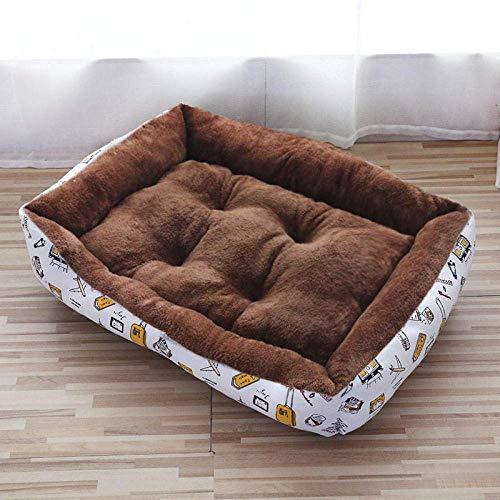 Cama para perros grandes, almohadillas para perros medianos, jaulas para perros medianos, cojín para cama de perro, color café, 50 x 40 (color: color café, tamaño: 90 x 70)