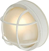 Round LED Bulkhead Light with Ribbed Glass 10-Inches Wide