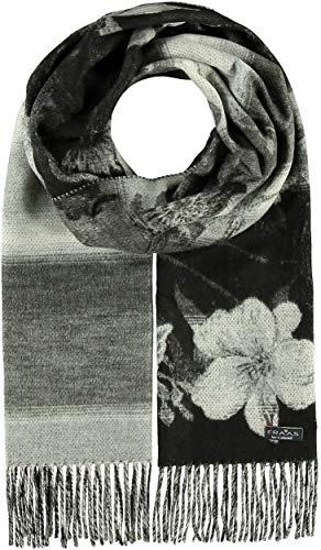 FRAAS Cashmink®-Schal mit floralem Muster - Made in Germany für Damen Schwarz