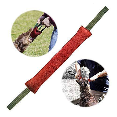 PetGens Beisswurst für Hunde, Kauspielzeug für Hunde, mit Zwei Schlaufen - Sehr Robustes Hundespielzeug, Sehr Robustes Hundespielzeug zum K9 Training, 40 cm, Tauziehen und Zerrspiele mit Hund