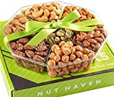 Mothers Day Nuts Gift Basket - Fresh Sweet & Salty Dry Roasted Gourmet Gift Basket - Food Gift Basket for Holiday, Christmas, Thanksgiving, Fathers Day, Mothers Day, Sympathy, Family, Men & Women