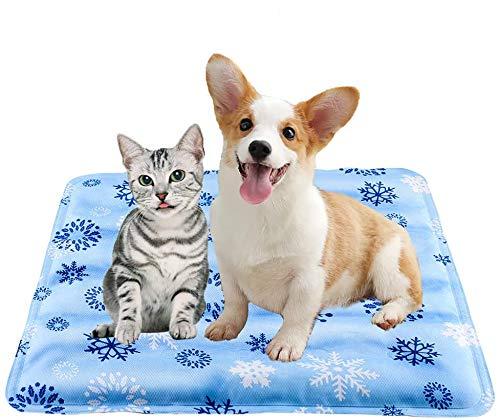 Cojín de enfriamiento para dormir,almohadilla de hielo,para perros y gatos,almohadilla de refrigeración para cama fría,almohadilla de disipación de calor para asientos de coche,Copo de nieve30x40cm