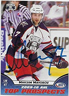 Maksim Mayorov Signed 2009-10 AHL Top Prospects Card #43 - Hockey Slabbed Autographed Cards