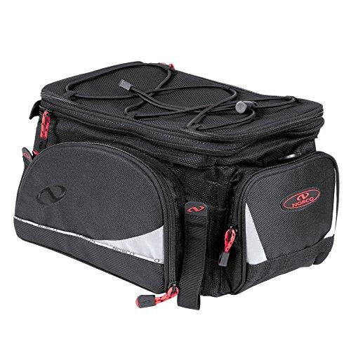 Norco Unisex– Erwachsene Fahrradtasche Dalton Gepäckträgertasche, schwarz, 28x18x34cm