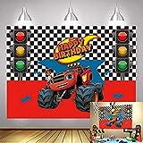 Monster-Truck-Hintergrund, Monster-Maschinen, Blaze-Thema,