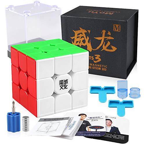 Coogam Moyu Weilong GTS V3 3X3 Velocidad Cubo sin Etiqueta Moyu Weilong GTS 3M 3X3X3 Cubo Rompecabezas GTS3 M