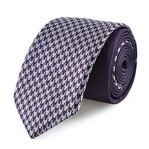 Dandytouch Cravate slim pieds de poule